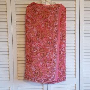 dana buchman silk wrap skirt size 2
